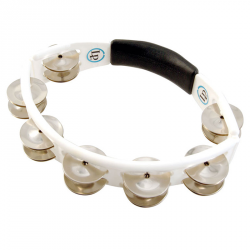 LATIN PERCUSSION LP152 - TAMBOURINS CYCLOP A MAIN BLANC