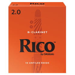RICO ORANGE 10 ANCHES CLARINETTE SIB 2