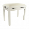 Banquette Stagg PB-39 Blanche Laquée, Velours Blanc