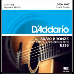 D'ADDARIO EJ36 - 12-STRING LIGHT 10-47