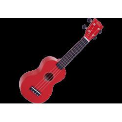 MAHALO - GMH MR1-RD Ukulélé Soprano rouge brillant + housse