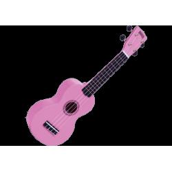 MAHALO - GMH MR1-PK Ukulélé Soprano rose brillant + housse