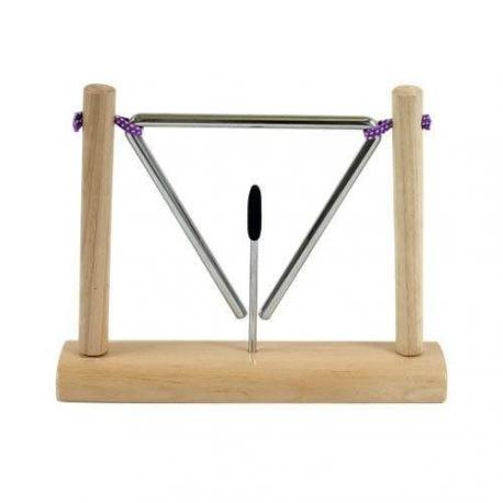 FUZEAU TRIANGLE SUSPENDU SUR SOCLE 15CM