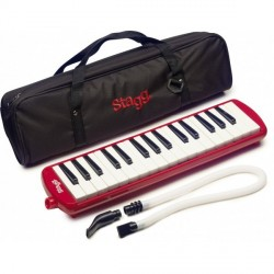 STAGG MELOSTA32 - CHROMATIQUE MELODICA ROUGE