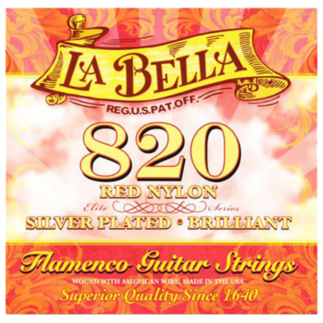 LA BELLA 820 FLAMENCO NYLON ROUGE