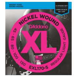 D'ADDARIO EXL170-5 - REGULAR LIGHT 45-130