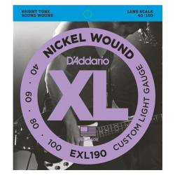 D'ADDARIO EXL190 - CUSTOM LIGHT 40-100