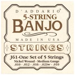 D'ADDARIO J61 -  CORDES POUR BANJOS