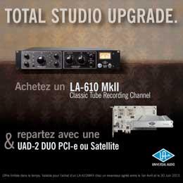 Promo universal audio profitez d'un produit gratuit pour l'achat du préampli LA-610 MKII