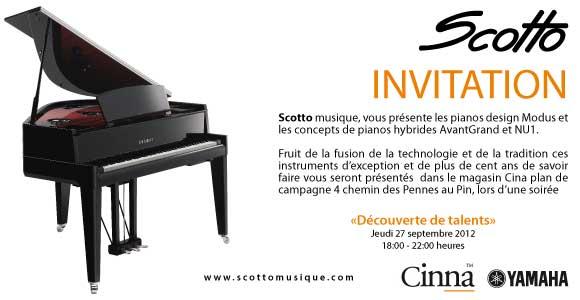 Découverte de talents, scotto musique vous présente sa gamme de piano hybride numérique Yamaha